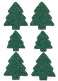 Weihnachtsetiketten Weihnachtsbäume Filz