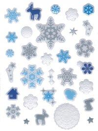 Weihnachtsetiketten Eiskristall Stone