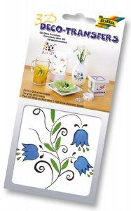 Deco-Transfers 3D Blumen blau, 10 x 10 cm