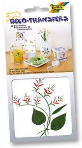 Deco-Transfers 3D Blumen rot, 10 x 10 cm