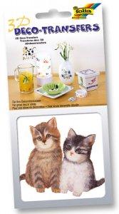 Deco-Transfers 3D Katzenbabies, 10 x 10 cm