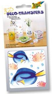 Deco-Transfers 3D Fisch blau, 10 x 10 cm