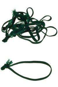 Textilschlaufen dunkelgrün -  50er Pack