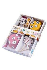 Muffin-Deko-Set Fußball, 48-teilig