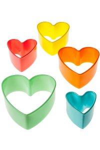 Ausstechformen Herz, groß, 5-teilig