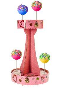 Dekostand für Cake Pops, rosa