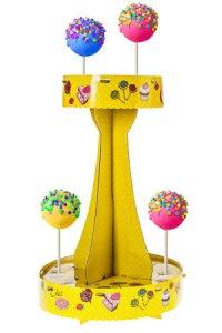 Dekostand für Cake Pops, gelb