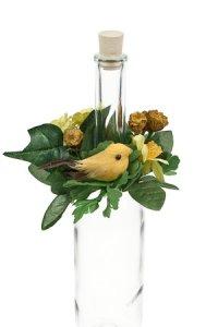 Blumenkranz mit Vogel und Ei