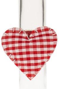 Serviettenring Herz aus Stoff