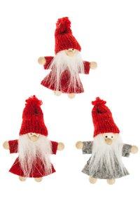 Weihnachtsanhänger Wichtel aus Stoff - 3er Set