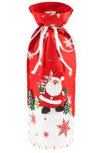 Flaschenbeutel Weihnachtsmann im Schnee aus Filz