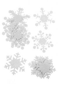 Filz-Sticker Schneeflocken, 16er Set