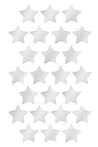 Deko-Sticker Spiegelstern, 24-teilig