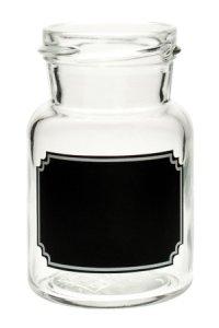 Rundglas  150 ml mit Tafel