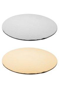 Pappscheibe gold/silber 200 mm,  50 Stück