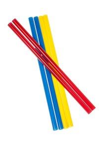 Trinkhalm wiederverwendbar 19 cm, Ø 7,7 mm, 6er Pack, 3-farbig