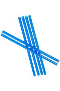 Trinkhalm wiederverwendbar 19 cm, Ø 7,7 mm, 6er Pack, blau