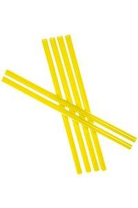 Trinkhalm wiederverwendbar 19 cm, Ø 7,7 mm, 6er Pack, gelb