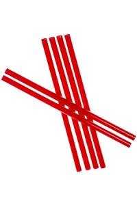 Trinkhalm fest 19 cm, Ø 7,7 mm, 6er Pack, rot