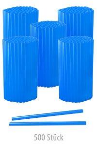 Trinkhalm 14 cm, Ø 7,7 mm, blau, 500 Stück