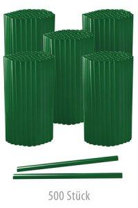 Trinkhalm 14 cm, Ø 7,7 mm, grün, 500 Stück
