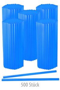 Trinkhalm 19 cm, Ø 7,7 mm, blau, 500 Stück