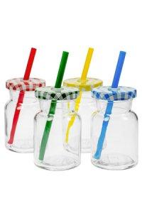 Trinkhalmglas 150 ml, 4er Set