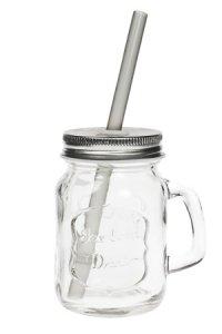 Trinkhalmglas 115 ml silber