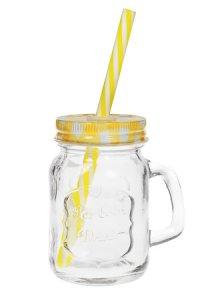 Trinkhalmglas 115 ml gelb