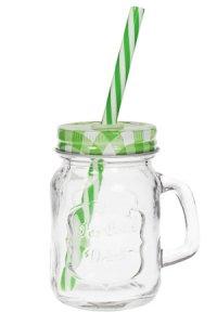 Trinkhalmglas 115 ml grün