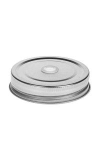 Trinkhalmdeckel SV 70 Weißblech silber