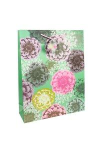 Geschenktasche Blumen, 12 x 6 x 19 cm