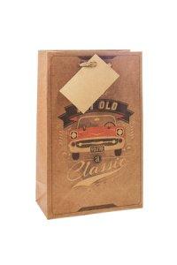 Geschenktüte Classic Car, 12 x 6 x 19 cm