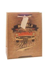 Geschenktasche Classic Car, 18 x 8 x 23 cm