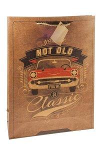 Geschenktasche Classic Car, 25 x 8,5 x 34 cm