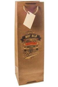 Flaschentasche Classic Car, 12 x 10 x 35 cm