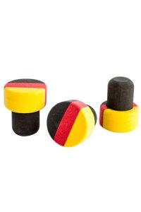 Griffstopfen Deutschland 19 mm, 3er Pack