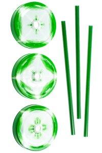 Trinkhalmdeckel SV 70 Kunststoff grün-weiß, 3er Set