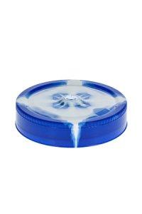 Trinkhalmdeckel SV 70 Batik blau-weiß