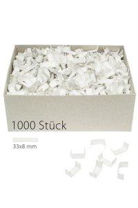 U-Clips 33 x 8 mm weiß, 1000 Stück