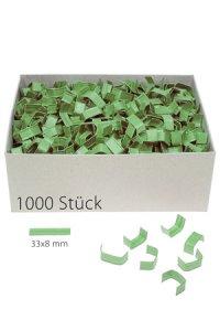 U-Clips 33 x 8 mm grün, 1000 Stück