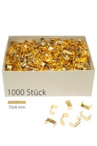 U-Clips 33 x 8 mm gold, 1000 Stück