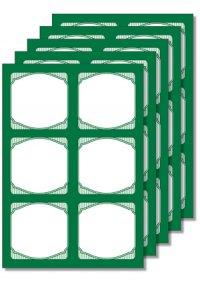 Cubi Etikettenbogen grün, 5 Blatt