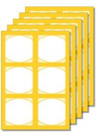 Cubi Etikettenbogen gelb, 5 Blatt