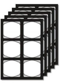 Cubi Etikettenbogen schwarz, 5 Blatt