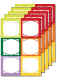 Cubi Etikettenbogen bunt, 5 Blatt