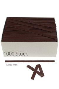 Clipbandverschlüsse 130 x 8 mm braun, 1000 Stück