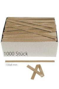 Clipbandverschlüsse 130 x 8 mm natron, 1000 Stück