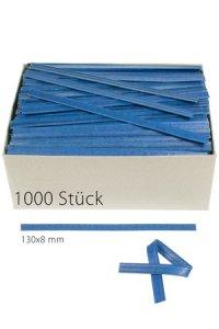 Clipbandverschlüsse 130 x 8 mm blau, 1000 Stück