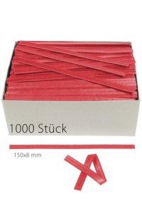 Clipbandverschlüsse 150 x 8 mm rot, 1000 Stück